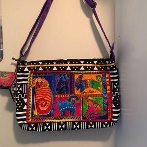 Laurel Burch NWT Doggies Whimsical Shoulder Bag